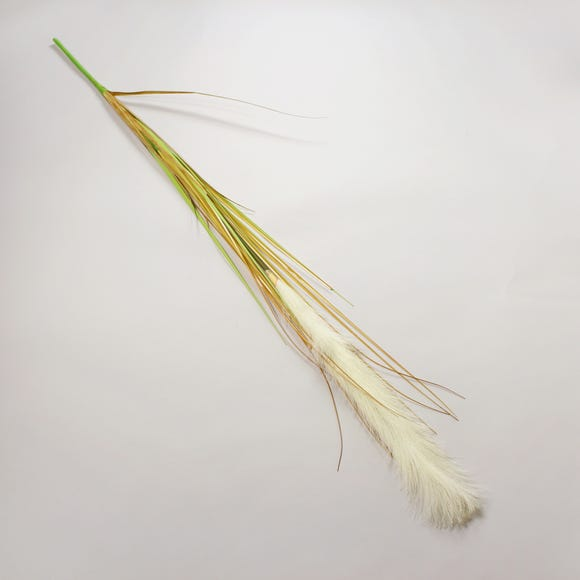 Artificial Pampas Grass Single Spray 130cm White