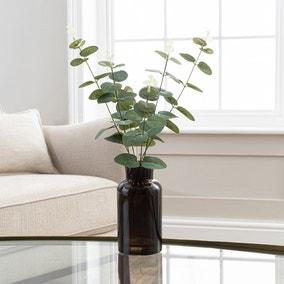 Artificial Eucalyptus in Black Vase 46cm