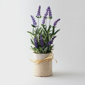 Artificial Lavender Purple in Jute Sack 41cm