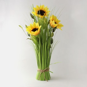 Artificial Sunflower Standing Yellow Bundle 60cm