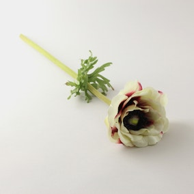 Artificial Anemone Cream Single Stem 54cm