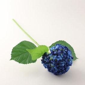 Artificial Hydrangea Blue Single Spray 50cm
