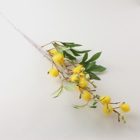 Artificial Mist Yellow Flower Single Stem 100cm