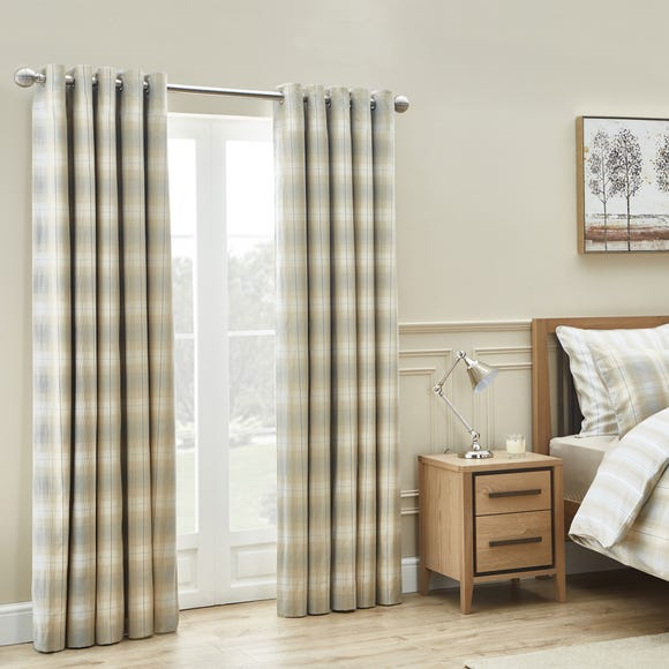Dorma Buckden Blackout Eyelet Curtains Natural undefined
