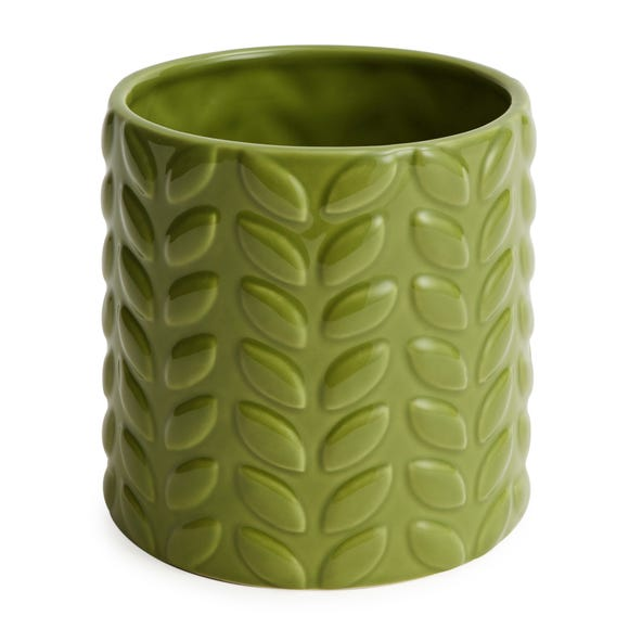 Large Green Leaf Plant Pot Green