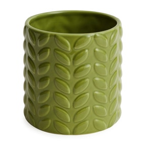 Large Green Leaf Plant Pot
