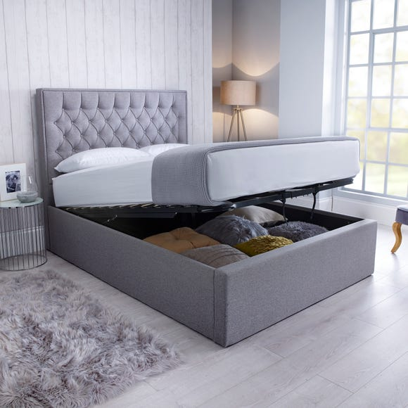 Wilson Fabric Ottoman Bed - Grey  undefined
