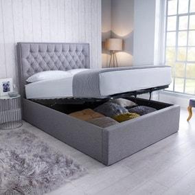 Wilson Fabric Ottoman Bed - Grey