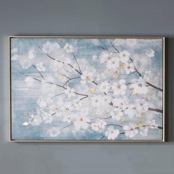 April Blossom Framed Art Blue