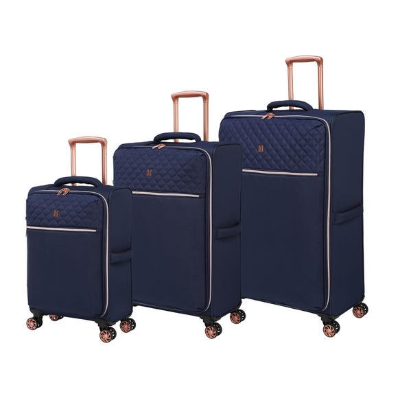 IT Luggage Divinity Navy Quilted Suitcase Navy undefined