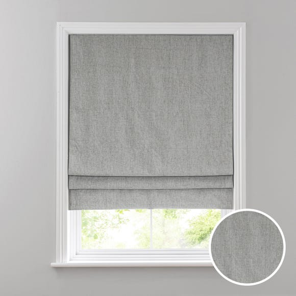 Chenille Silver Roman Blind  undefined