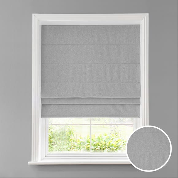 Luna Dove Grey Blackout Roman Blind Dove Grey undefined