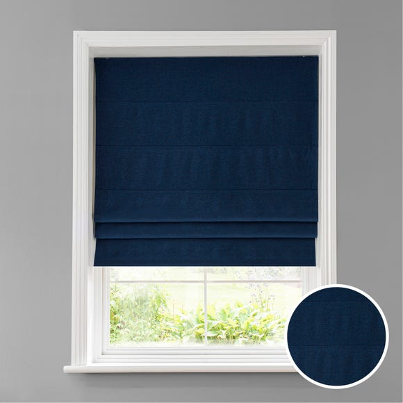 Luna Navy Blackout Roman Blind Navy undefined
