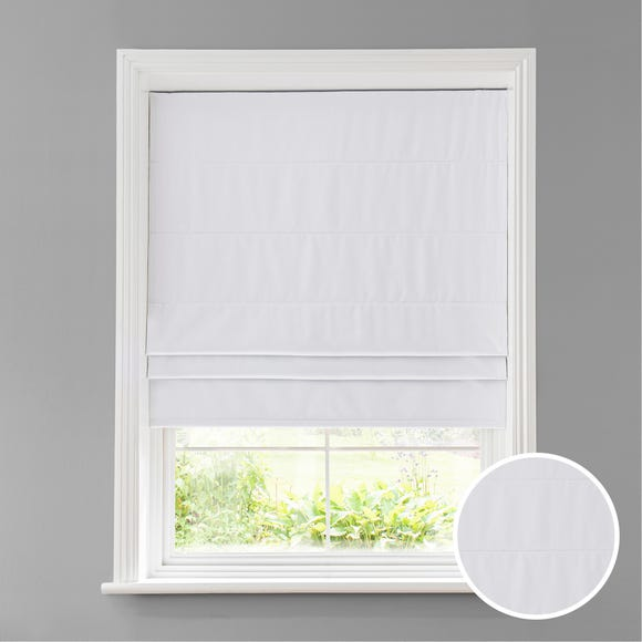 Luna White Blackout Roman Blind White undefined