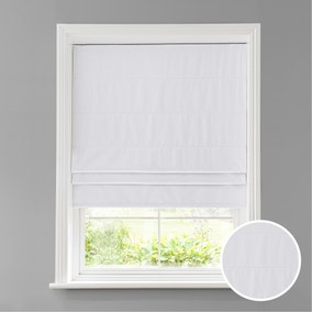 Luna White Blackout Roman Blind