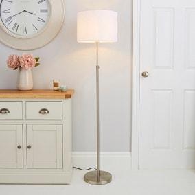 Hemming Adjustable Height Steel Floor Lamp