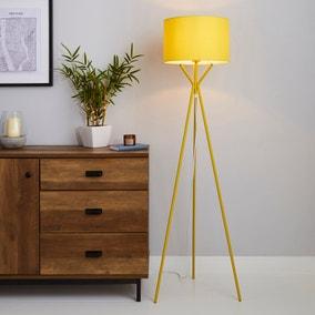 Drei Tripod Ochre Floor Lamp