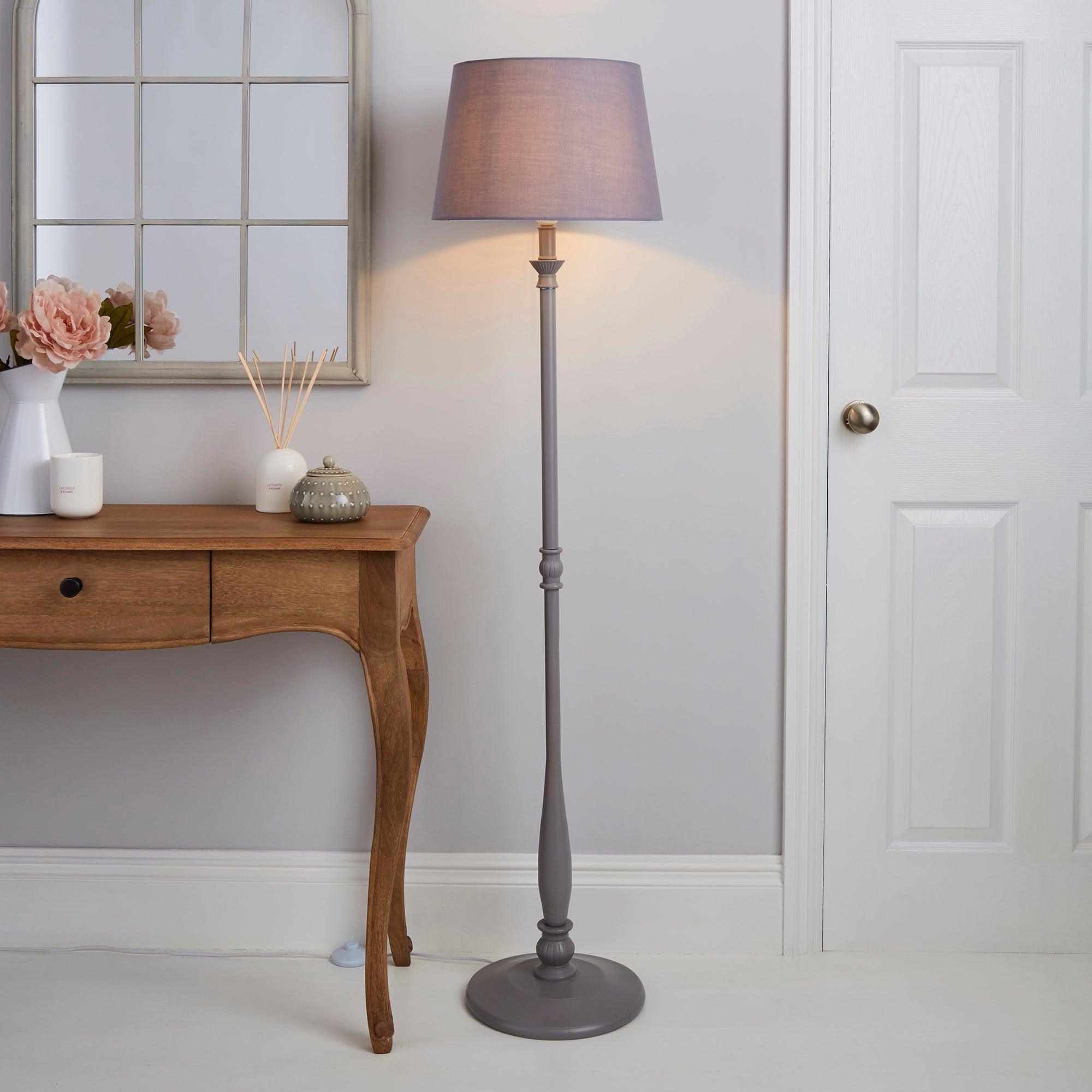 Tofty Grey Floor Lamp Grey