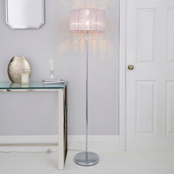 Riah Jewel Blush Floor Lamp Blush (Pink)