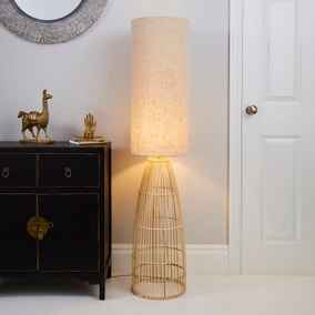 Cortado Natural Wicker Floor Lamp