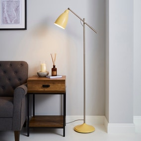 Robson Ochre Lever Arm Floor Lamp