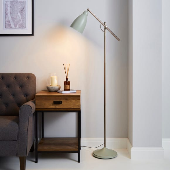 Robson Seafoam Lever Arm Floor Lamp Green
