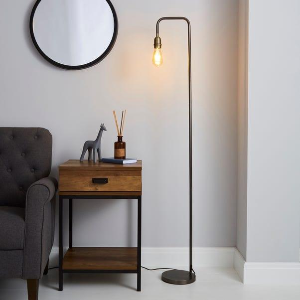 Marsden Industrial Floor Lamp Black
