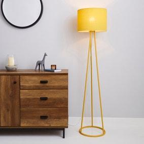Sara Ochre Floor Lamp