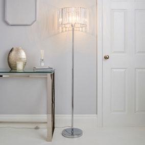Prism Chrome Floor Lamp