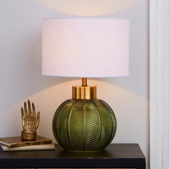 Colleen Green Glass Table Lamp Green