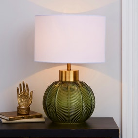 Colleen Green Glass Table Lamp