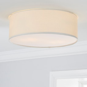 Sara 38cm Ivory Shade Flush Ceiling Fitting