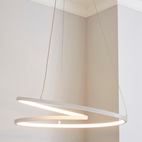 Menton Integrated LED Swirl White Ceiling Fitting