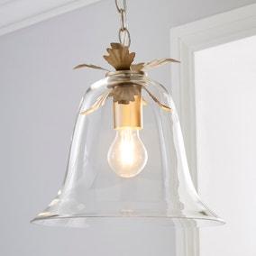 Mase Bell 1 Light Pendant Glass Ceiling Fitting