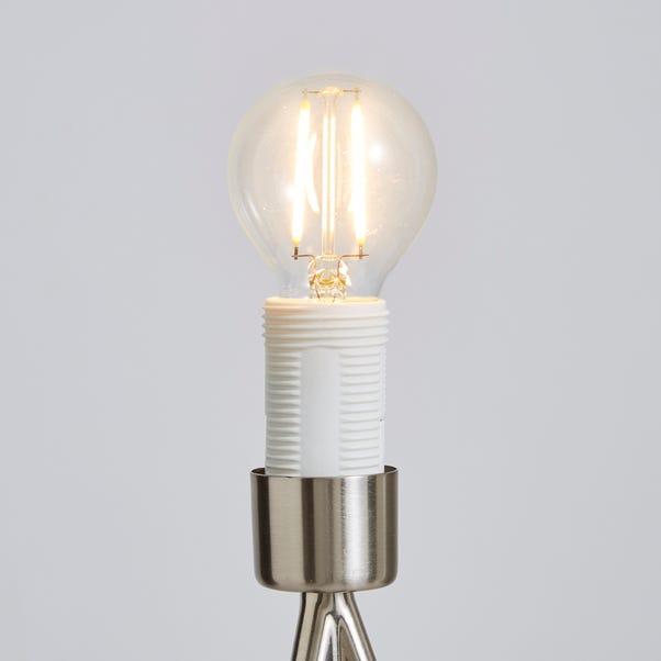 Dunelm 2.5 Watt SES LED Filament Round Bulb 3 Pack White