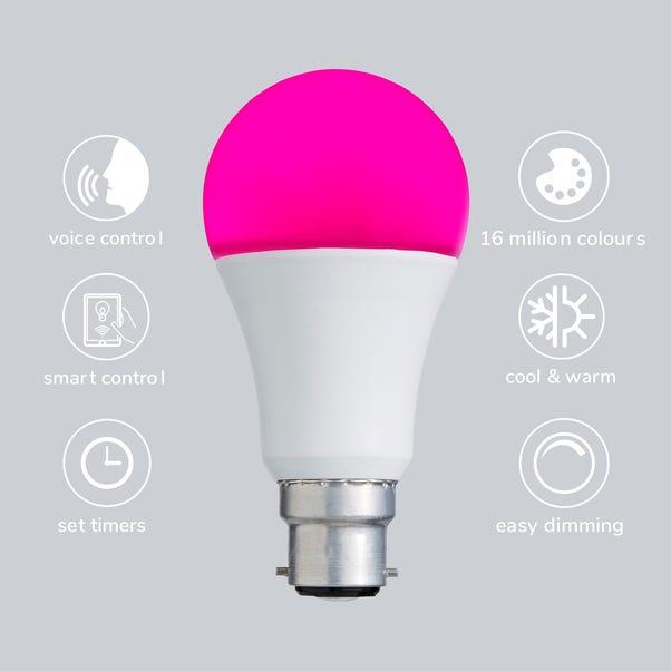 Status Smart Alexa 9 Watt RGB BC GLS LED Bulb MultiColoured