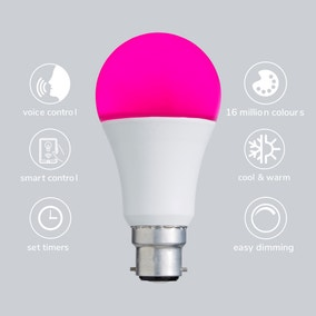 Status Smart Alexa 9 Watt RGB BC GLS LED Bulb
