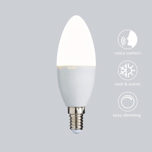 Status Smart Alexa 5.5 Watt CT SES Candle Bulb White