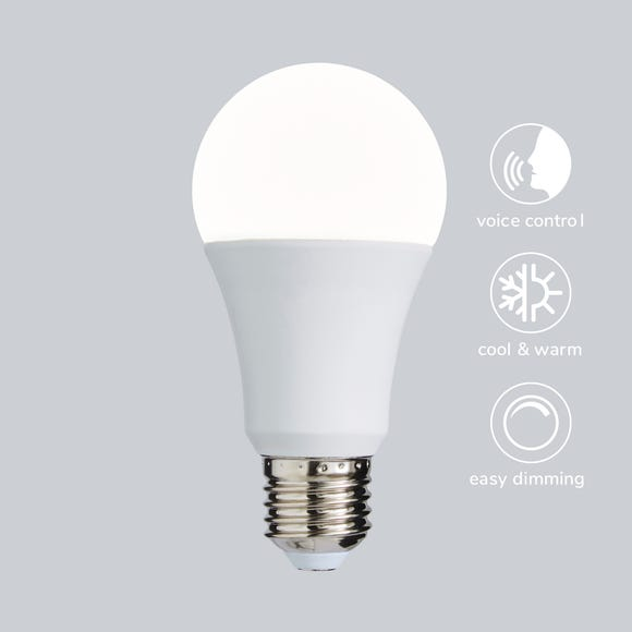 Status Smart Alexa 9 Watt GLS LED CT ES Bulb White