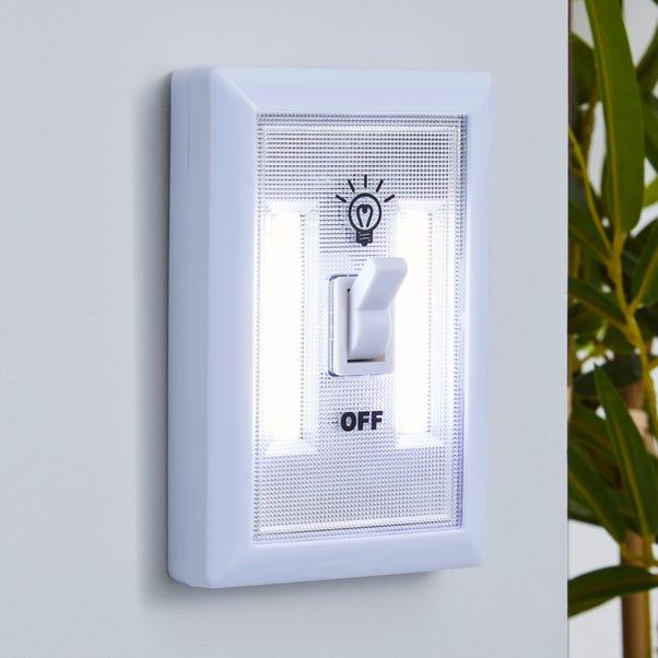 Status LED Multi Purpose Light Switch White