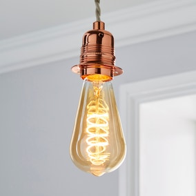 Dunelm 4 Watt ST64 ES LED Spiral Filament Bulb