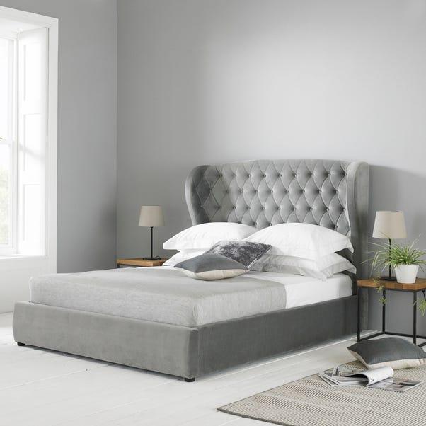 Amalfi Grey Fabric Bed Frame Grey undefined