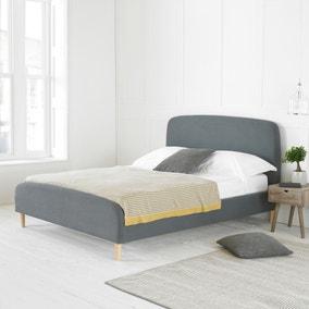 Barci Dark Grey Fabric Bed Frame