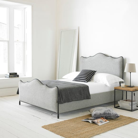 Cameo Fabric Bed Frame Light Grey undefined