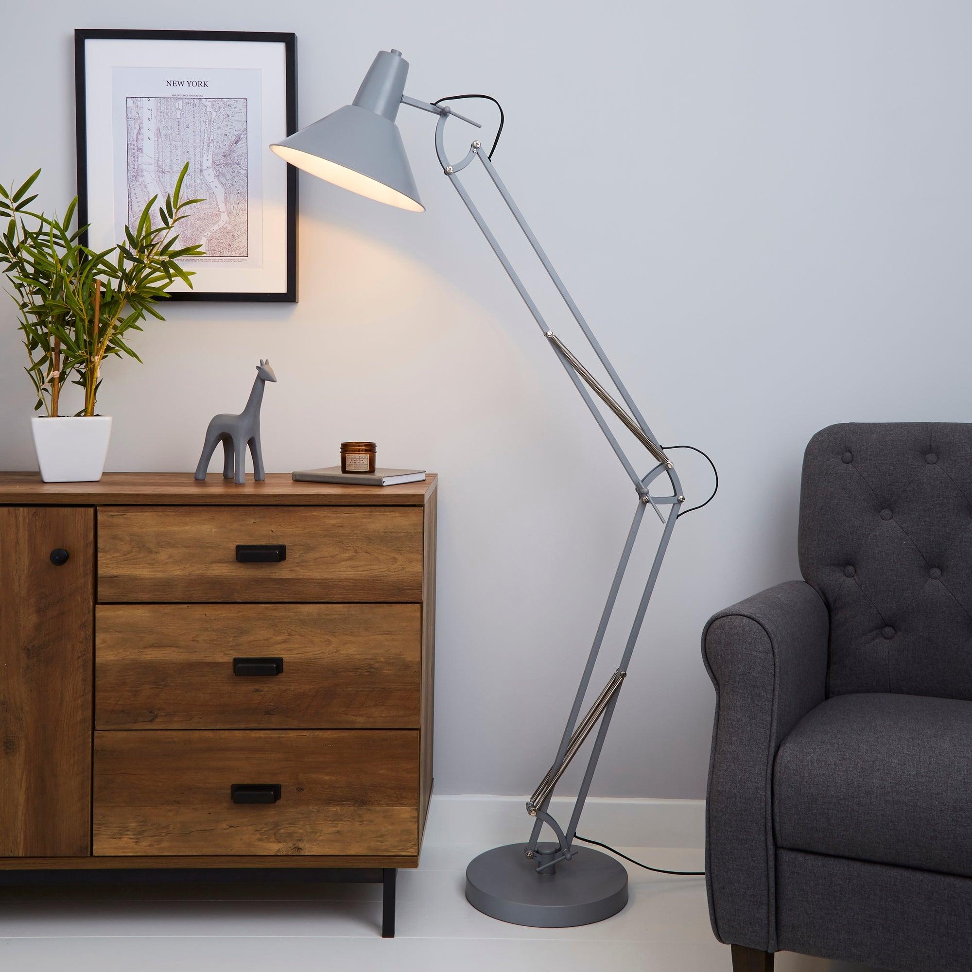 Carlton Grey Floor Lamp Grey