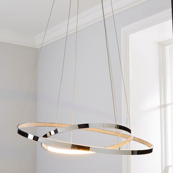 Marcella 2 Light Integrated LED Hoops Chrome Ceiling Fitting Chrome
