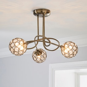 Sphere 3 Light Glass Ceiling Fitting