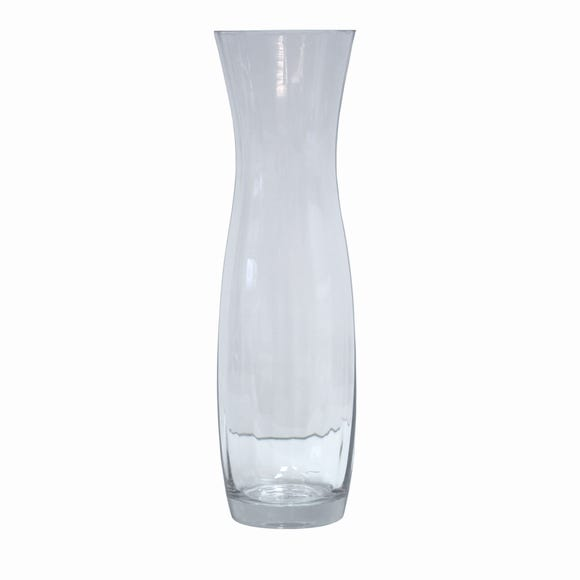 Tall Fluted Tulip Vase Clear