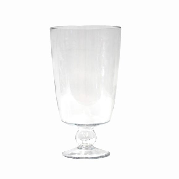 Clear Glass Footed Vase Clear