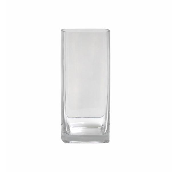 Rounded Corner Tank Vase Clear